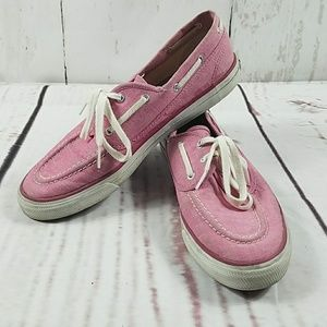 Sperry top-sider canvas boat shoe size 10